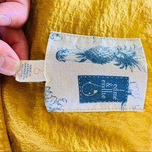 Anthropologie Dresses - Anthro Edme & Esyllte Blooming Goldenrod Dress